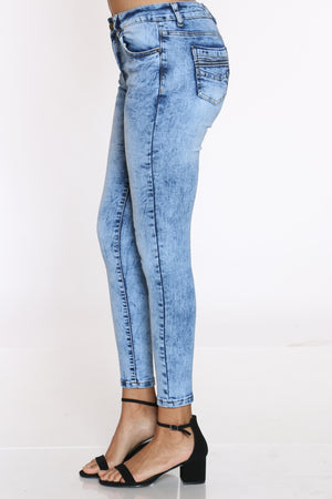 Women's Acid High Waist Jean - Medium Blue