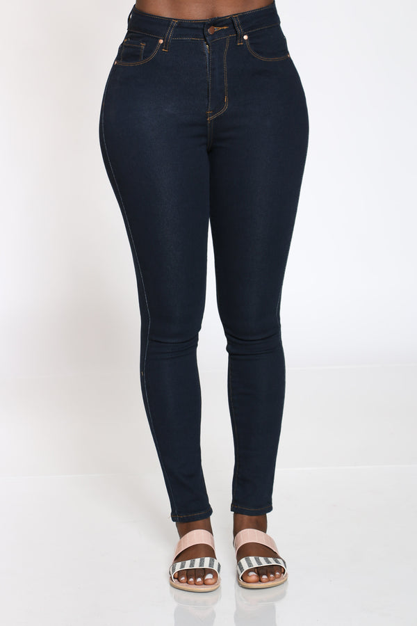Women's Highwaist Skinny Jean - Black-VIM.COM