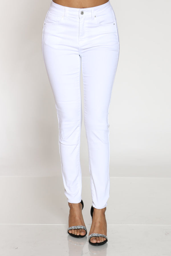 Women's High Rise Skinny Jean - White