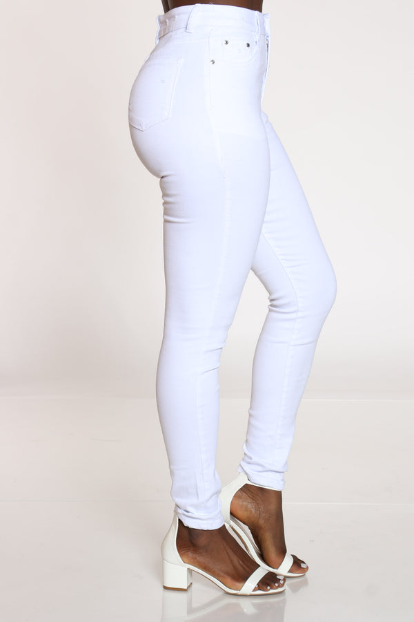 Women's Highwaist Skinny Jean - White