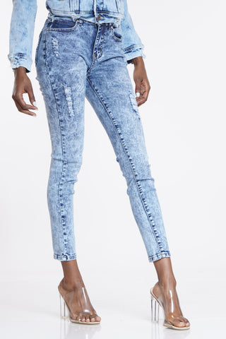 Bust It Down Acid Wash Jean - Light Blue-VIM.COM