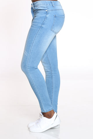 Women's 5 Pocktet Jean - Light Blue