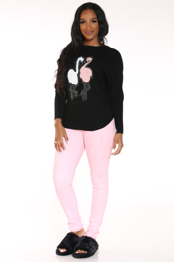 Women's Ripped Twill Pant - Pink