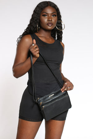 Women's Rampage Cross Bag - Black-VIM.COM
