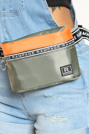 Women's Rampage Nylon Belt Bag - Sage
