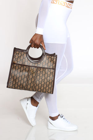Women's Signature Logo Tote Bag - Brown