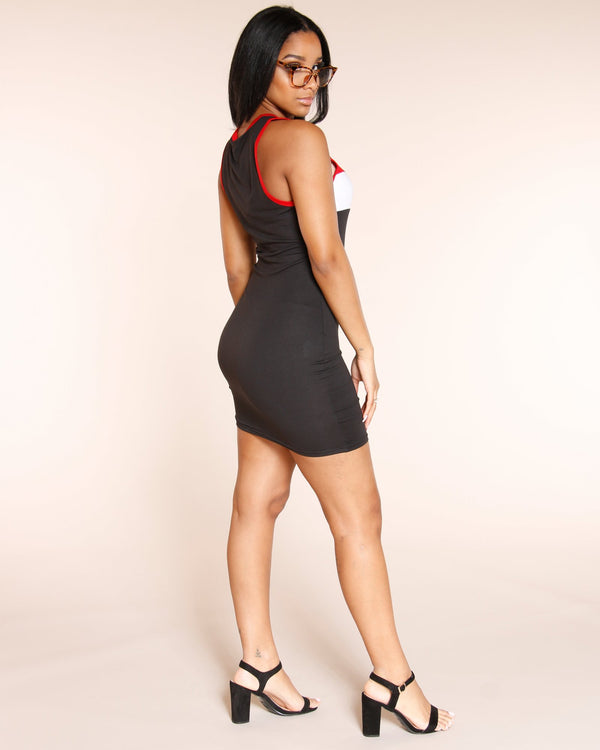 VIM VIXEN Block Out The Haters Dress - Black - ShopVimVixen.com