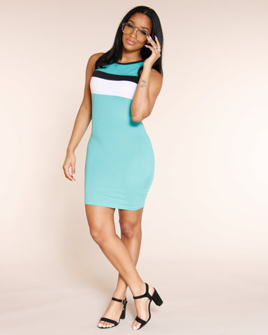 VIM VIXEN Block Out The Haters Dress - Jade - ShopVimVixen.com