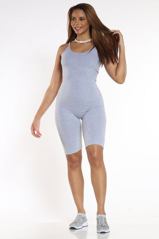 Women's Short Classic Catsuit - Heather Grey-VIM.COM