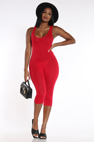 Suit Up Jumpsuit - Red-VIM.COM