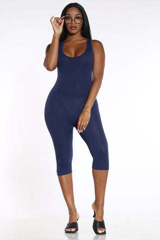 Suit Up Jumpsuit - Navy-VIM.COM