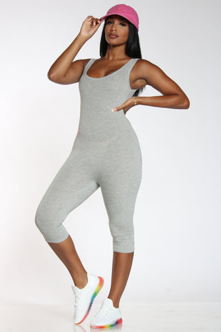 Suit Up Jumpsuit - Heather Grey-VIM.COM