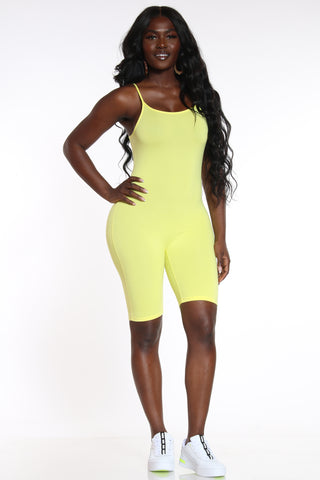 Plain Jane Classic Catsuit - Yellow-VIM.COM
