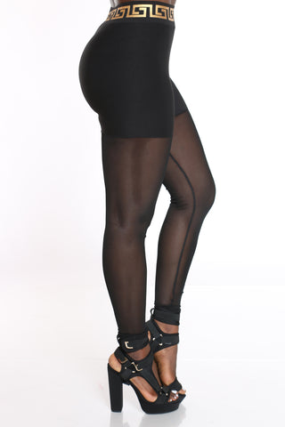Women's Mesh Legging - Black