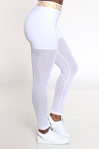 Women's Mesh Legging - White