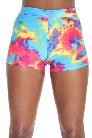 Never Say Never Tie Dye Short - Rainbow-VIM.COM