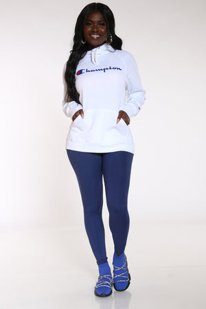 Women's Graphic Hoodie - White