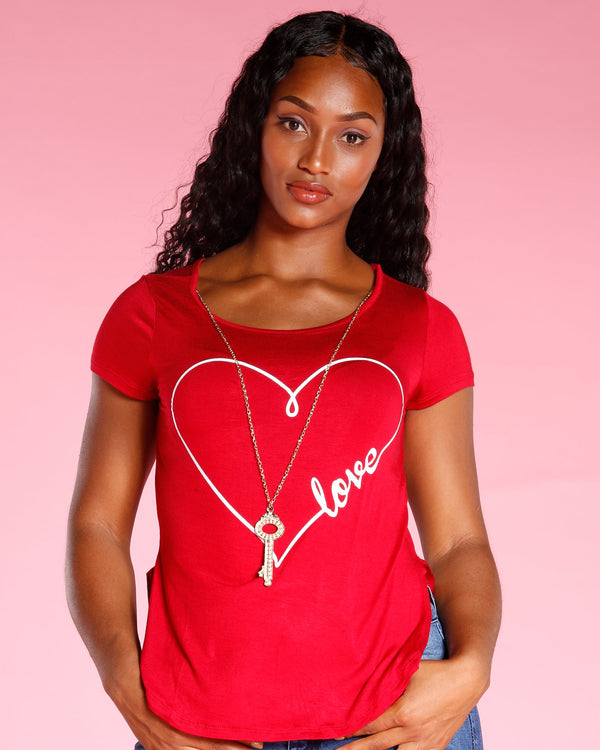 VIM VIXEN Love Print With Keychain - Red - ShopVimVixen.com
