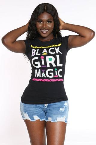 Women's Girl Magic Stones Top - Black