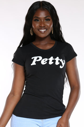 Women's Petty Tee - Black-VIM.COM