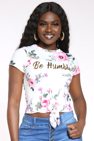 Women's Be Humble Floral Tee - Ivory-VIM.COM