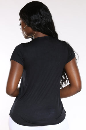 Women's Blessed & Beautiful Top - Black