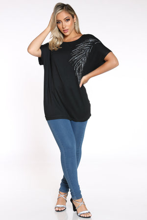 Women's Leaf Top - Black