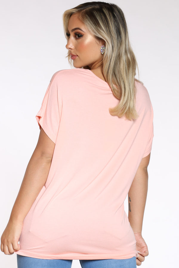 Women's Leaf Top - Pink