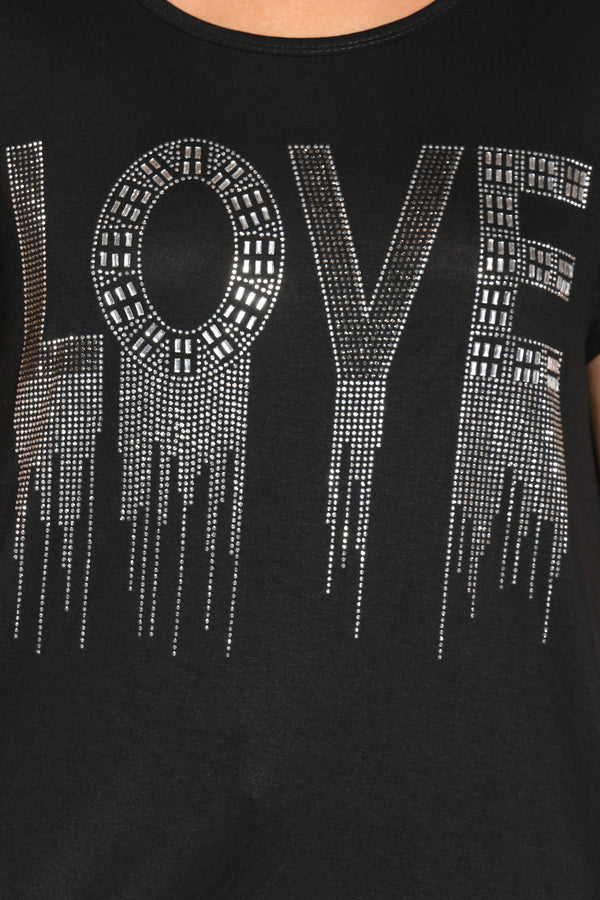 Women's Love Stones Tee - Black