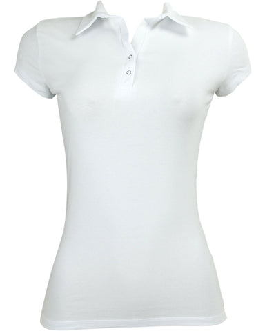 Icy Fashion Polo Two Snap Button Shirt - ShopVimVixen.com