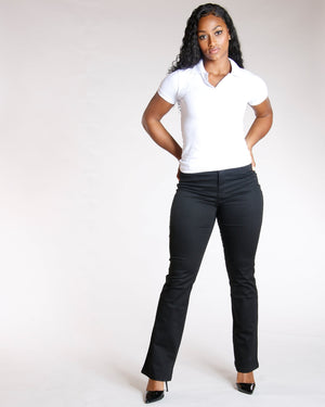 VIM VIXEN Two Button Back To School Polo Shirt - White - ShopVimVixen.com