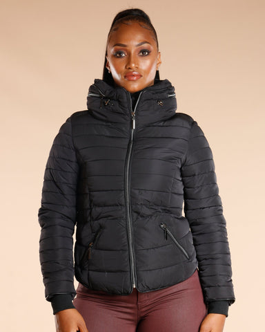 VIM VIXEN Fur Lined Zipper Jacket - ShopVimVixen.com
