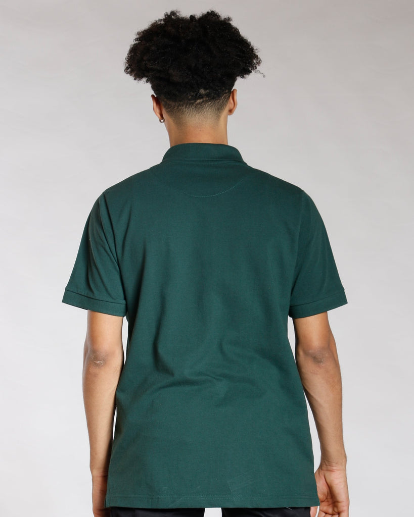VIM Basic Solid Polo Shirt - Hunter Green - Vim.com
