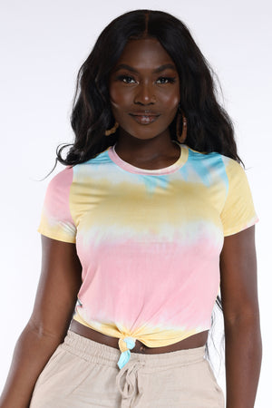 I'm Yours Tie Dye Crop Top - Peach Blue-VIM.COM