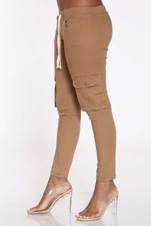 Women's Twill Cargo Pocket Pant - Khaki