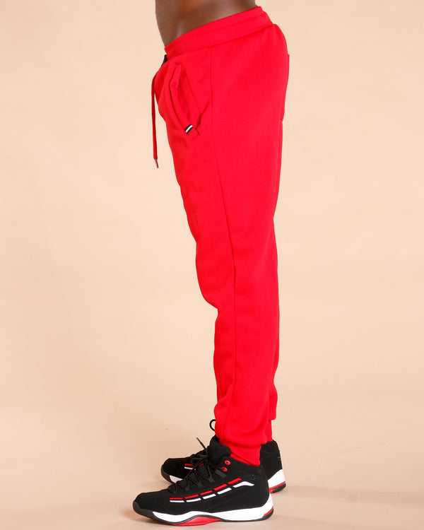 VIM Knitted Fleece Joggers - Red - Vim.com