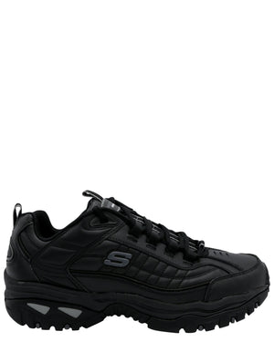 SKECHERS-Men's Energy After-Burn Memory Fit Sneaker - Black-VIM.COM