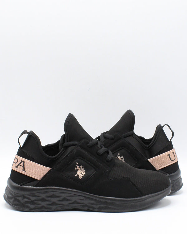 U.S. POLO ASSN. Slip On Lace Up Sneaker (Pre School) - Black Rose - Vim.com