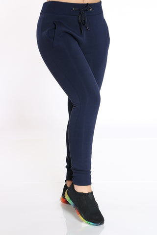 Women's Fleece Pant - Navy-VIM.COM