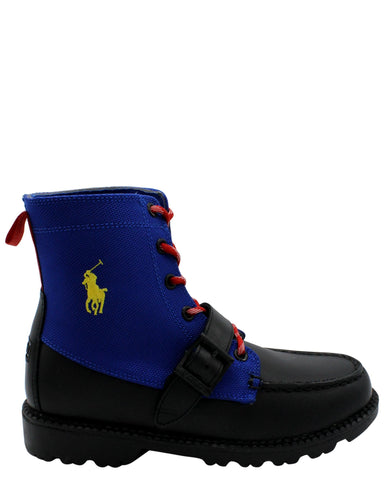 POLO RALPH LAUREN Ranger Hi Boot (Grade School) - Royal - Vim.com