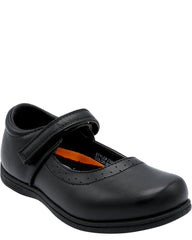 VIM Girl'S Memory Foam Velcro Plain School Shoes - Black - Vim.com