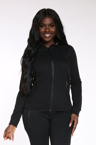 Women's Tech Fleece Hoodie - Black-VIM.COM