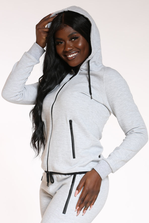 Women's Tech Fleece Hoodie - Grey