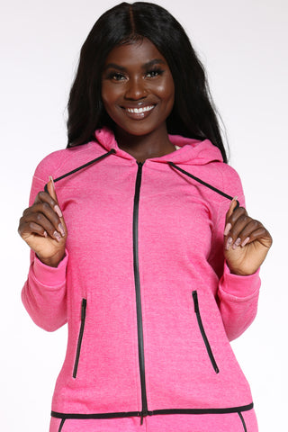 Women's Tech Fleece Hoodie - Pink-VIM.COM