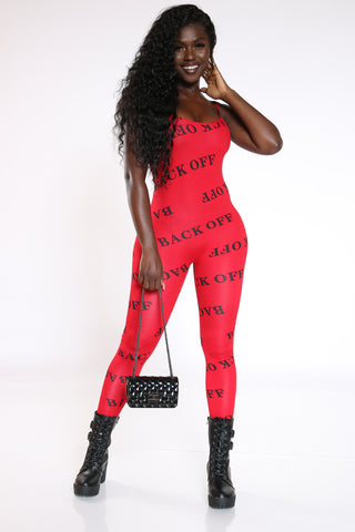 Women's Back Off All Over Catsuit - Red-VIM.COM