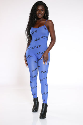 Women's Back Off All Over Catsuit - Royal-VIM.COM