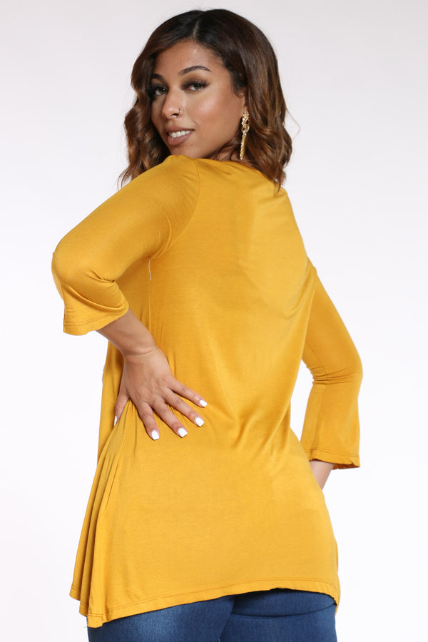 Women's Chain Top - Mustard