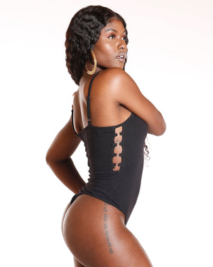 VIM VIXEN Side Cut Outs Bodysuit - Black - ShopVimVixen.com