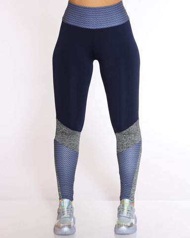 Women's Blair Color Block Active Legging - Navy