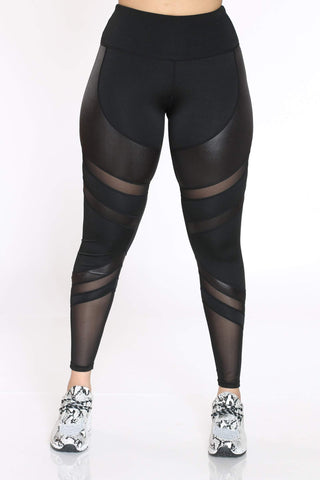 Women's Daria Mesh Active Legging - Black